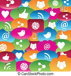 sozial, vernetzung, talk, blasen
