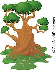 sozinha, árvore grande