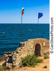 Northen tower with entrance to the fortress of sozopol. -...