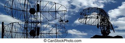 spårande, kastvapen, planlagt, automatisk, mål, nymodig, radar