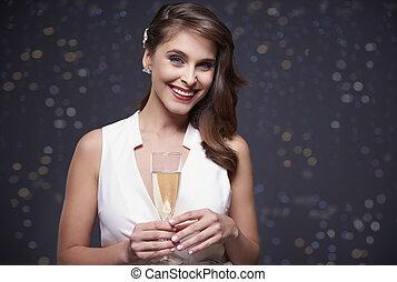 spécial, champagne, événement, célébrer