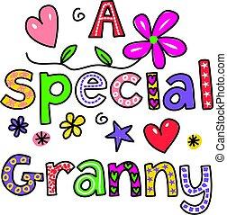 spécial, grand-maman