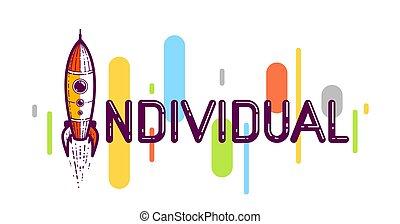 spécial, individualité, font., ou, je, individu, ...