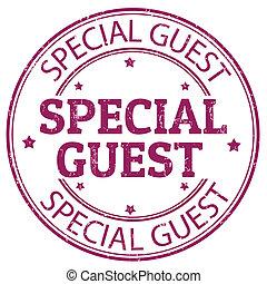 spécial, invité, timbre