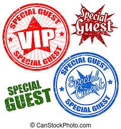 spécial, invité, timbres