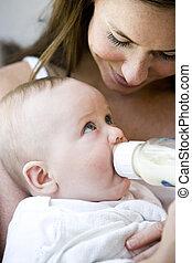 spécial, lien, entre, mère bébé