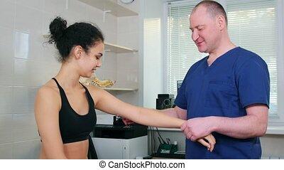 spécialiste, roue, chiropraxie, réaction, -, traitement ...