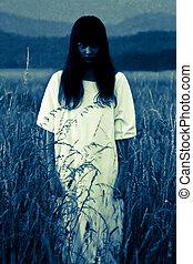 spöke, fält