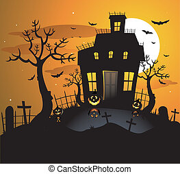 spöke, hus