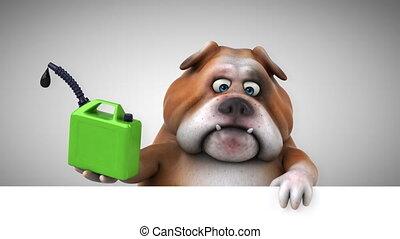 spaß, bulldogge, -, 3d lebhaftigkeit
