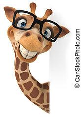 spaß, giraffe