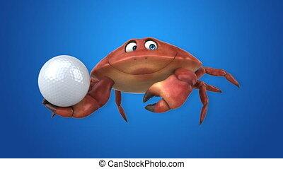spaß, krabbe, -, 3d lebhaftigkeit