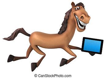 spaß, pferd