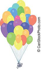 spaß, reizend, maus, luftballone