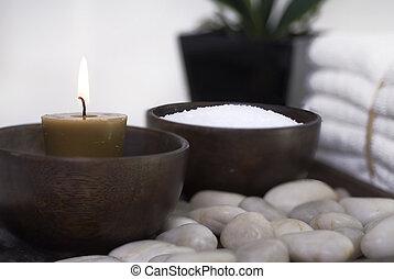 spa, 健康, 浮雕宝石