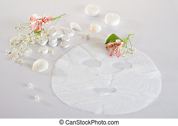 Spa accessories - disposable mask: prepared and pressed