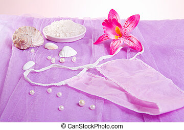 woman purple spa disposable panties for depilation - Spa ...