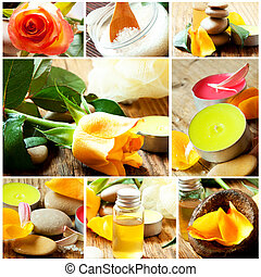 Spa and Aromatherapy Collage. Spa Essences Settlement
