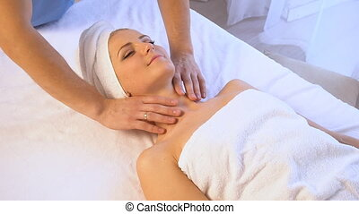 Spa and beautiful girl massage health 1