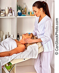 Spa and massage deals. Facial treatment for forty five year old woman spa salon.