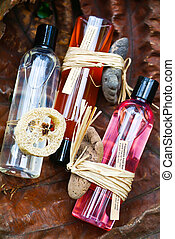 spa aromatherapy oil and beauty treatment