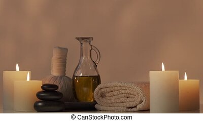 Spa background composition. Massage, oriental therapy,...