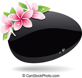 Spa Background - Spa background of black pebble decorated...