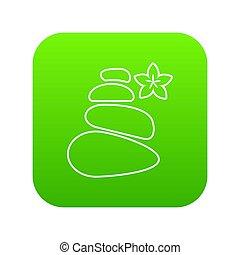 Spa balance stones icon green