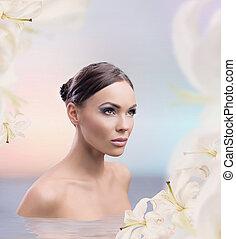 Spa bath of a female beauty
