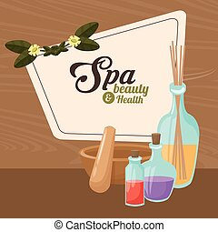 spa beauty and health elements treatment care