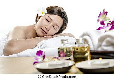 spa, begriff, massage