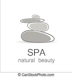 spa, beleza natural, modelo, logotipo