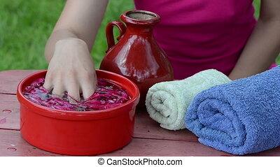 spa blossom hand