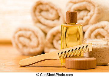 Spa body care products wooden hair comb - Spa body care ...