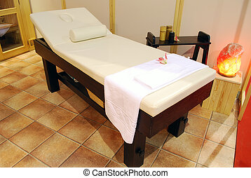 spa, cama, massagem, relaxamento