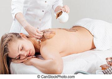 Spa Chocolate Mask. Luxury Spa Treatment . Dayspa - Spa...