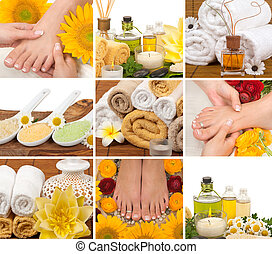Spa Collage - Spa, aromatherapy, massage, pedicure collage