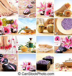spa, collage