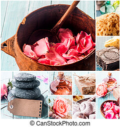 Spa Composite with Natural Products and Blank Tag - Spa...
