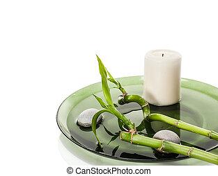 spa, concept, à, bambou