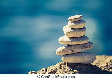 spa, concept, équilibre, wellness