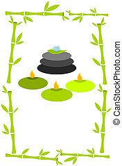spa, concept, groene