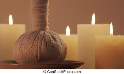 spa, concept., masseren, composition., behandeling,...