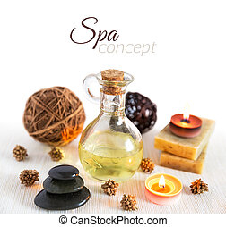 Spa concept on white background