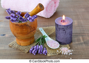 Spa concept with lavender