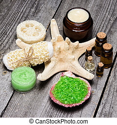Spa cosmetics and accessories