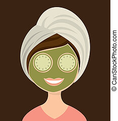 spa design over brown background vector illustration