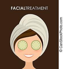 spa design over brown background vector illustration