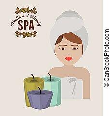 spa, design, zentrieren