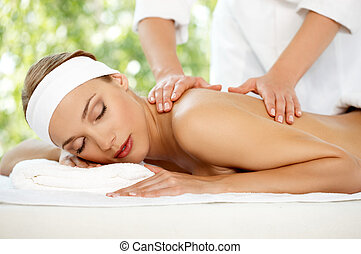 spa, en, wellness, buiten